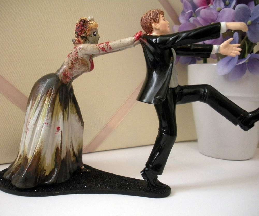 funny cake toppers for wedding cakes