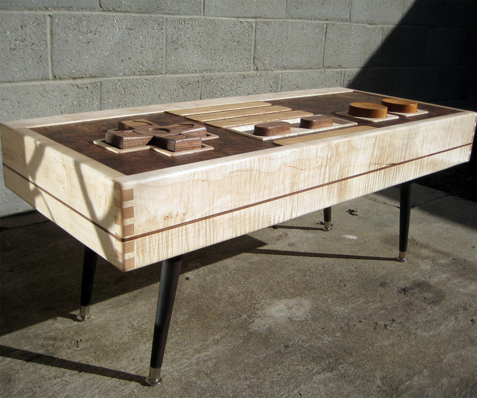 nes controller coffee table plans